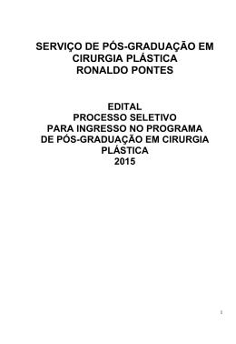 serviço de pós-graduação em cirurgia plástica ronaldo pontes