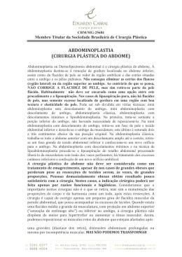 ABDOMINOPLASTIA (CIRURGIA PLÁSTICA DO ABDOME)