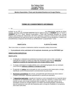 Dra Tatiana Caloi Cirurgiã Plástica CREMESP
