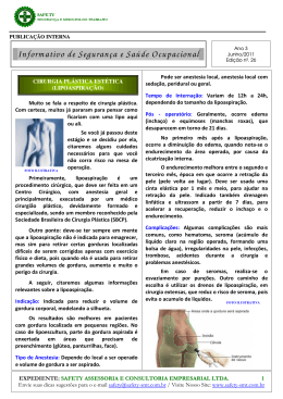 Informativo nº 26 - Cirurgia Plástica