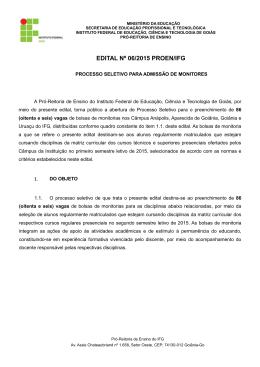 edital nº 06/2015 proen/ifg