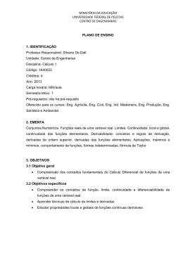 MINISTÉRIO DA EDUCAÇÃO UNIVERSIDADE FEDERAL DE