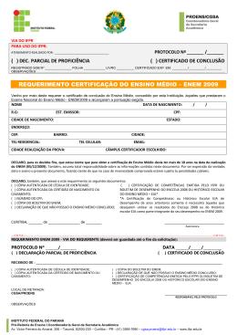 certificado de conclusão requerimento certificação do ensino