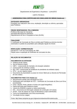 CT. 02.02-Assessoria Para Certificado de Conclusão de Obra