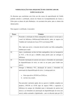 Emissão de Certificado de Conclusão