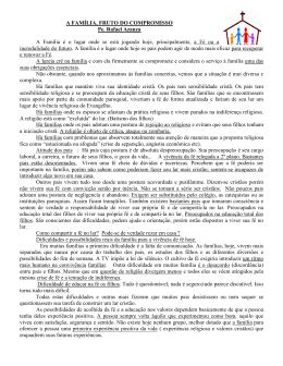 OS SEM FAMÍLIA - Paróquia N. Sra. do Desterro