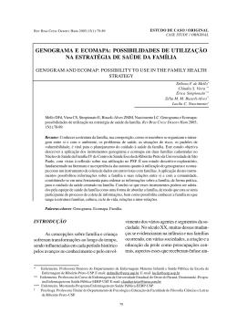 genograma e ecomapa - USP - Universidade de São Paulo