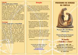 folder oficial 2012 1 versao - Paróquia São João Batista e Santa Luzia