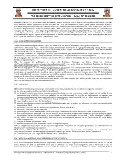 prefeitura municipal de alagoinhas / bahia
