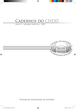 Cadernos do CHDD - Ano 11- Número Especial