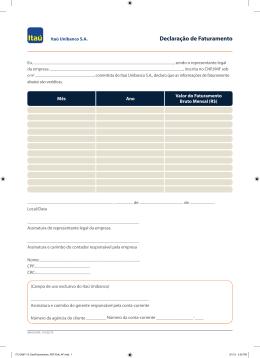 Formulario de Faturamento ITAU