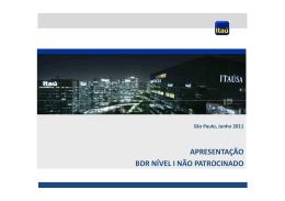 BDR Não Patrocinado - Itaú Securities Services