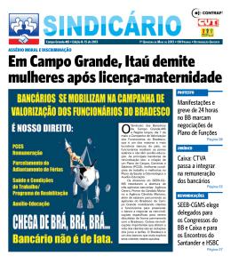maio/2013 - Sindicato dos Bancário de Campo Grande