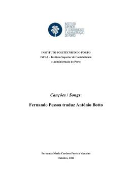 Fernando Pessoa traduz António Botto