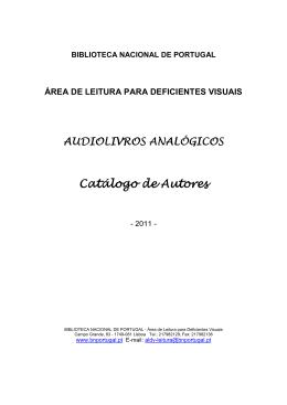 Catalogo de audiolivros analógicos