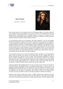 Isaac Newton - Matemática online