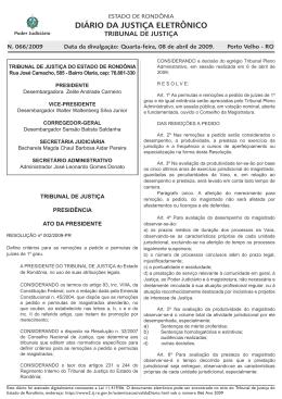 08 - Tribunal de Justiça de Rondônia