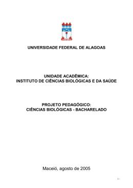 PPC BIOLOGIA BACHARELADO - Universidade Federal de Alagoas