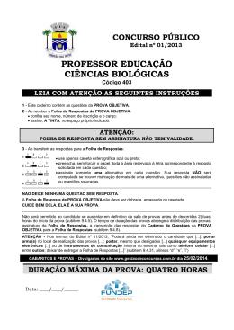 PROFESSOR EDUCAÇÃO CIÊNCIAS BIOLÓGICAS