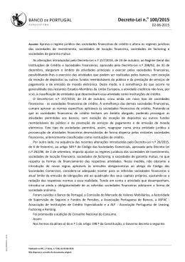 Decreto-Lei n.o 100/2015
