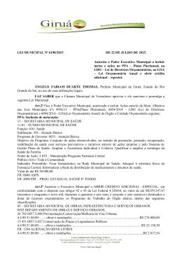 LEI MUNICIPAL Nº 6190/2015 DE 22 DE JULHO DE 2015. Autoriza