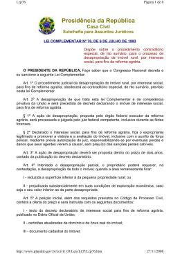 lei complementar nº 76, de 6 de julho de 1993.