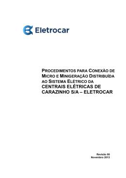 CENTRAIS ELÉTRICAS DE CARAZINHO S/A – ELETROCAR