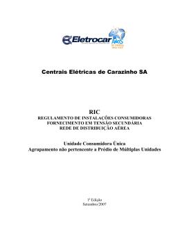 Centrais Elétricas de Carazinho SA