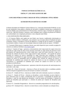 FURNAS CENTRAIS ELÉTRICAS S.A. EDITAL Nº 1