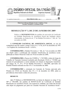 RESOLUÇÃO Nº 3, DE 23 DE JANEIRO DE 2009