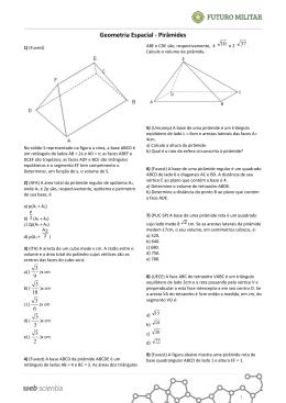 Geometria Espacial - Pirâmides