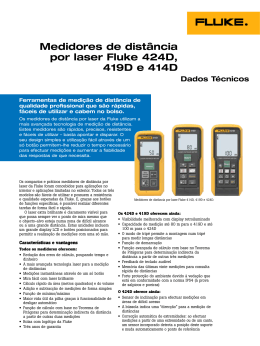 Fluke 424D, 419D, and 414D Distance Meters