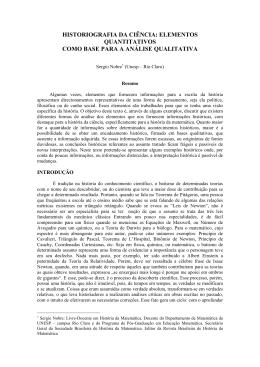 História da História - Sociedade de Estudos & Pesquisa Qualitativos