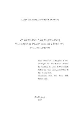 MARIA DAS GRAÇAS FONSECA ANDRADE Tese de Doutorado