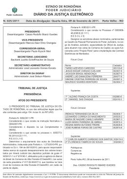 09 - Tribunal de Justiça de Rondônia