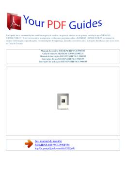 HB78GU590F/35 - Instruções de utilização