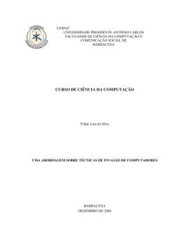 CURSO DE CIÊNCIA DA COMPUTAÇÃO