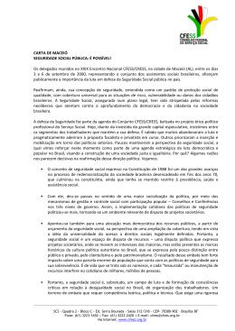 CARTA DE MACEIÓ SEGURIDADE SOCIAL PÚBLICA: É