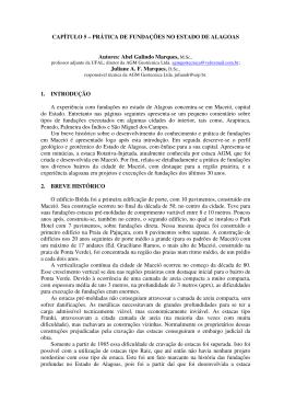Prática de Fundações no Estado de Alagoas, em Gusmão