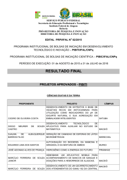 RESULTADO FINAL - Instituto Federal de Alagoas