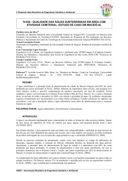 estudo de caso em macei-al - Área de Engenharia de Recursos