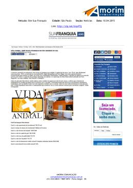 Veículo: Site Sua Franquia Cidade: São Paulo Seção