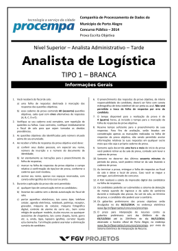 Analista Administrativo (Analista de Logística)