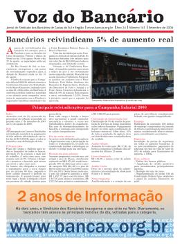 Voz do Bancário - Edição 141 - Sindicato dos Bancários de Caxias