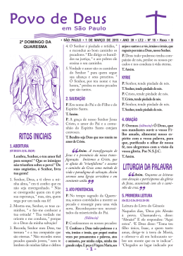 RITOS INICIAIS LITURGIA DA PALAVRA
