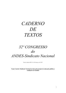 CADERNO DE TEXTOS