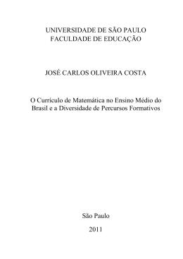 UNIVERSIDADE DE SÃO PAULO FACULDADE DE EDUCAÇÃO