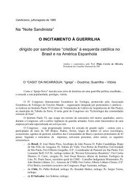 Noite Sandinista - Plinio Corrêa De Oliveira
