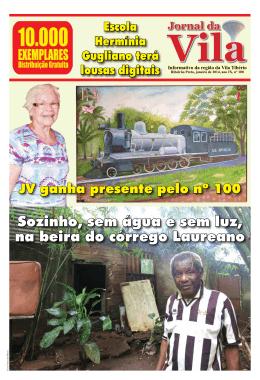 JV ganha presente pelo n.100 Jornal da Vila, janeiro de 2014, ano