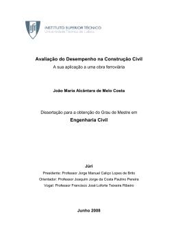 Avaliação do Desempenho na Construção Civil Engenharia Civil